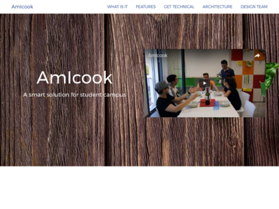 AmIcook homepage