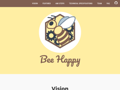 Bee Happy homepage