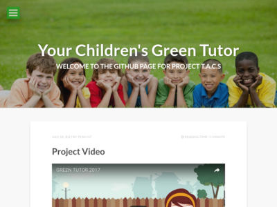 Your Children's Green Tutor homepage