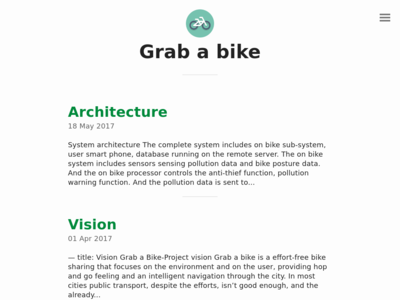 Grab a bike homepage