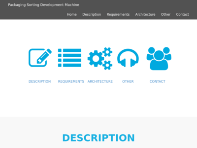 Packaging Sorting Development Machine homepage