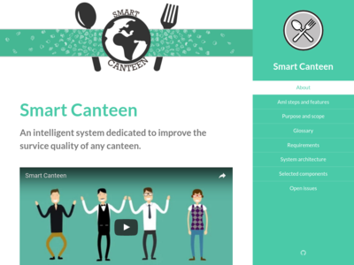 Smart Canteen homepage
