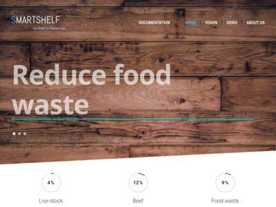 SmartShelf homepage