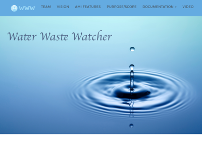 Water Waste Watcher homepage